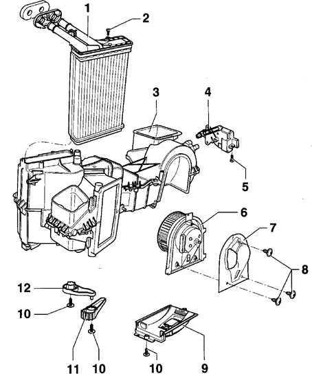 Схема обдува отопителя фольксваген б-5